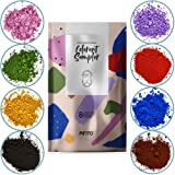 Pifito Oxide Pigment Colorants Sampler - 8 Beautiful Colors for Soap Making Supplies (.5 oz ea) - Red, Blue, Yellow, Pink, Green, Brown, Black, Violet - Bath Bombs Coloring Powder
