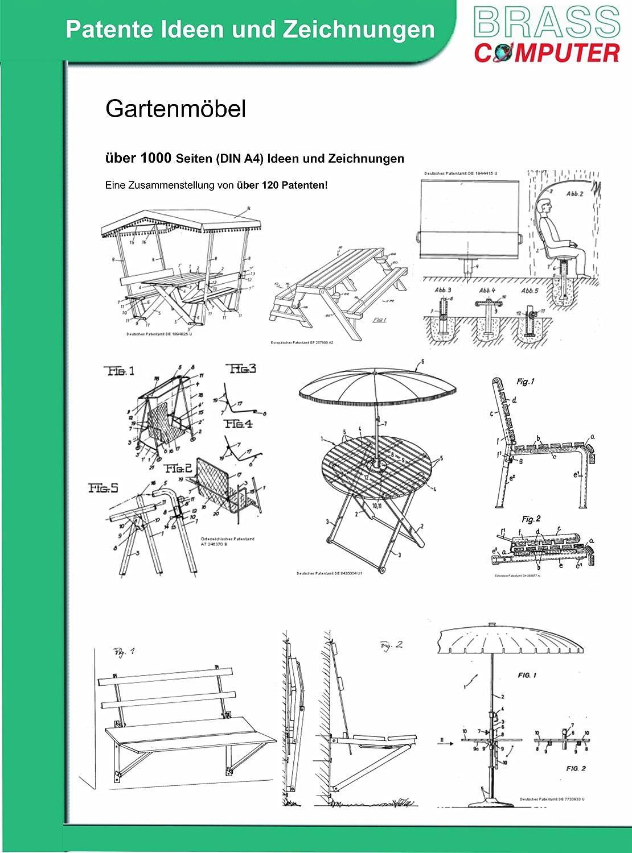 Gartenmöbel, ca. 1000 Seiten (DIN A4) patente Ideen und Zeichnungen bestellen