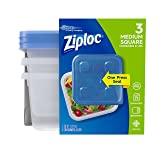 Ziploc Container, Medium Square, 3 Count