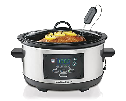 Hamilton Beach Slow Cooker Programmable 5 Quart Set & Forget (33958A)