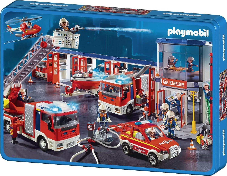 Schmidt Spiele 55581 – Playmobil, Feuerwehr, 100 Teile Puzzle, in Metalldose online kaufen