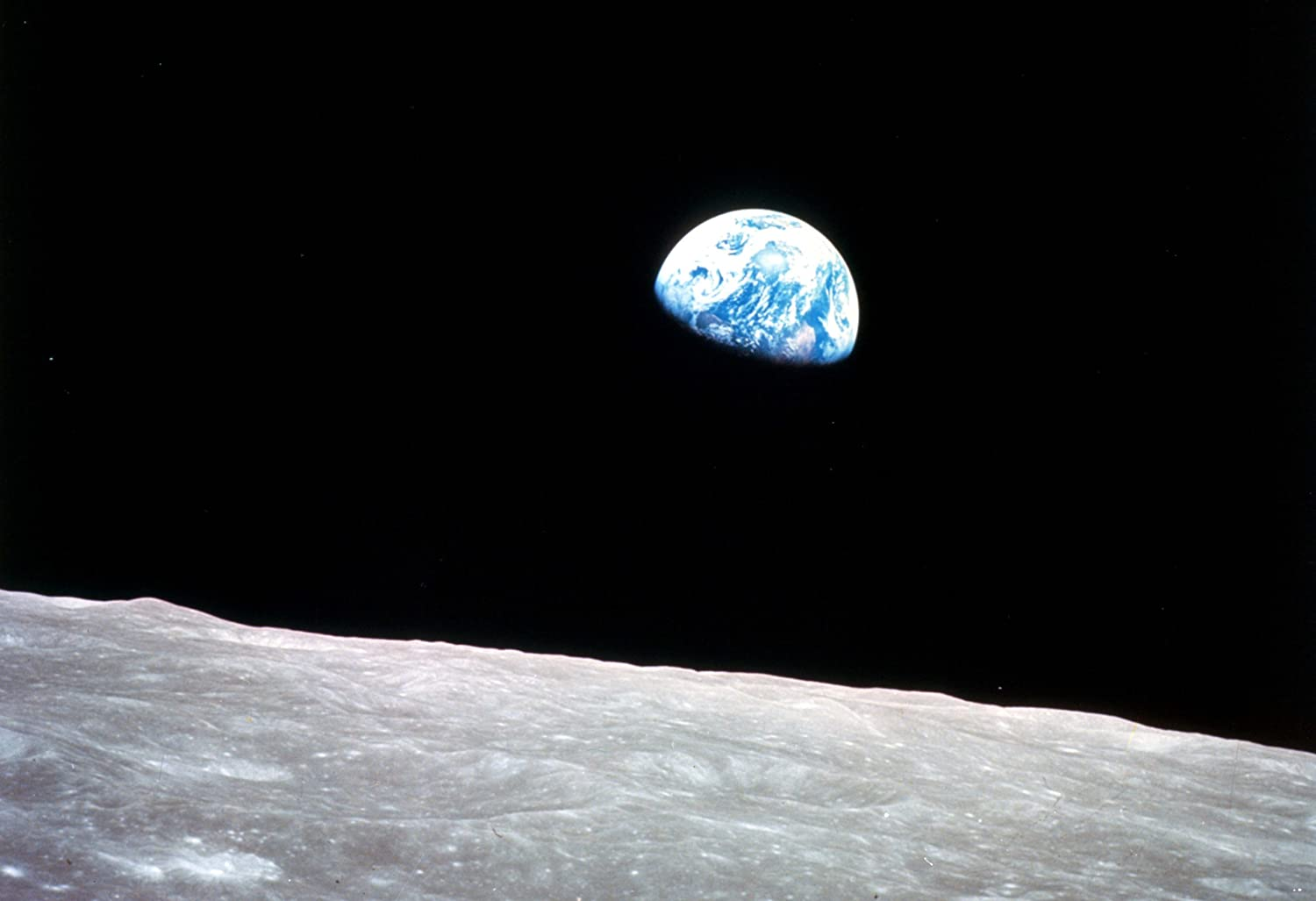 Earthrise by Apollo 8