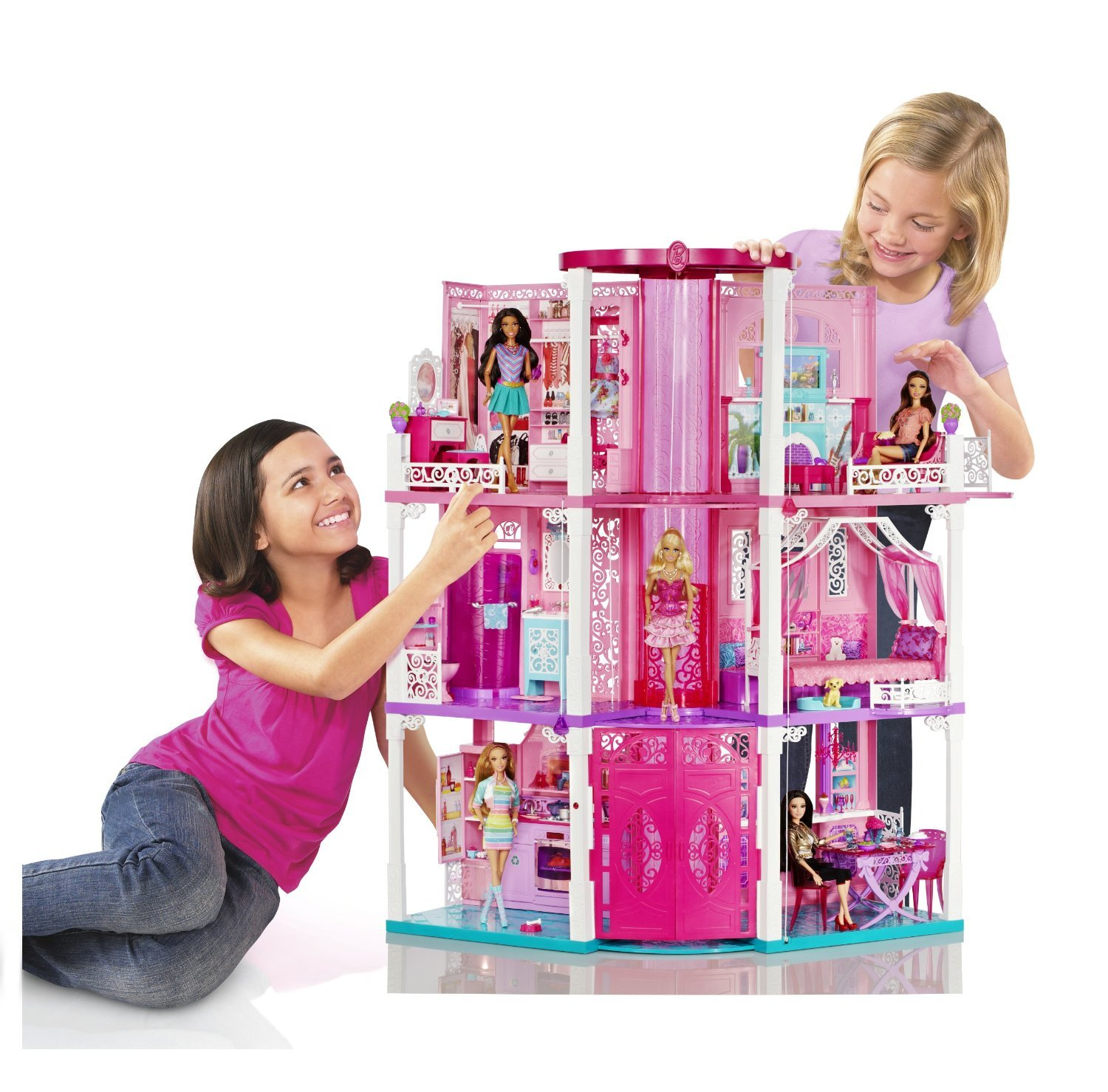 Barbie Dream Hous: Mattel Barbie Doll 3 Story Deluxe Folding Townhouse Dream