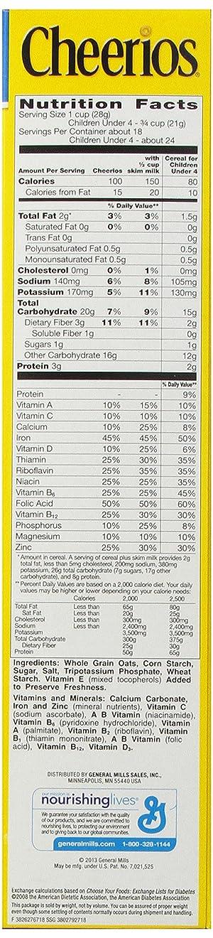 Cheerios Cereal, 18 oz (Tamaño: 18 oz)