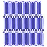 Pasow 100pcs Reusable Fastening Cable Ties Adjustable Wire Management (7 Inch, Blue) (Color: Blue, Tamaño: 7 Inch)