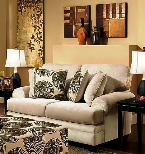 Chelsea Home Furniture Rayna Loveseat, Groovy Beige