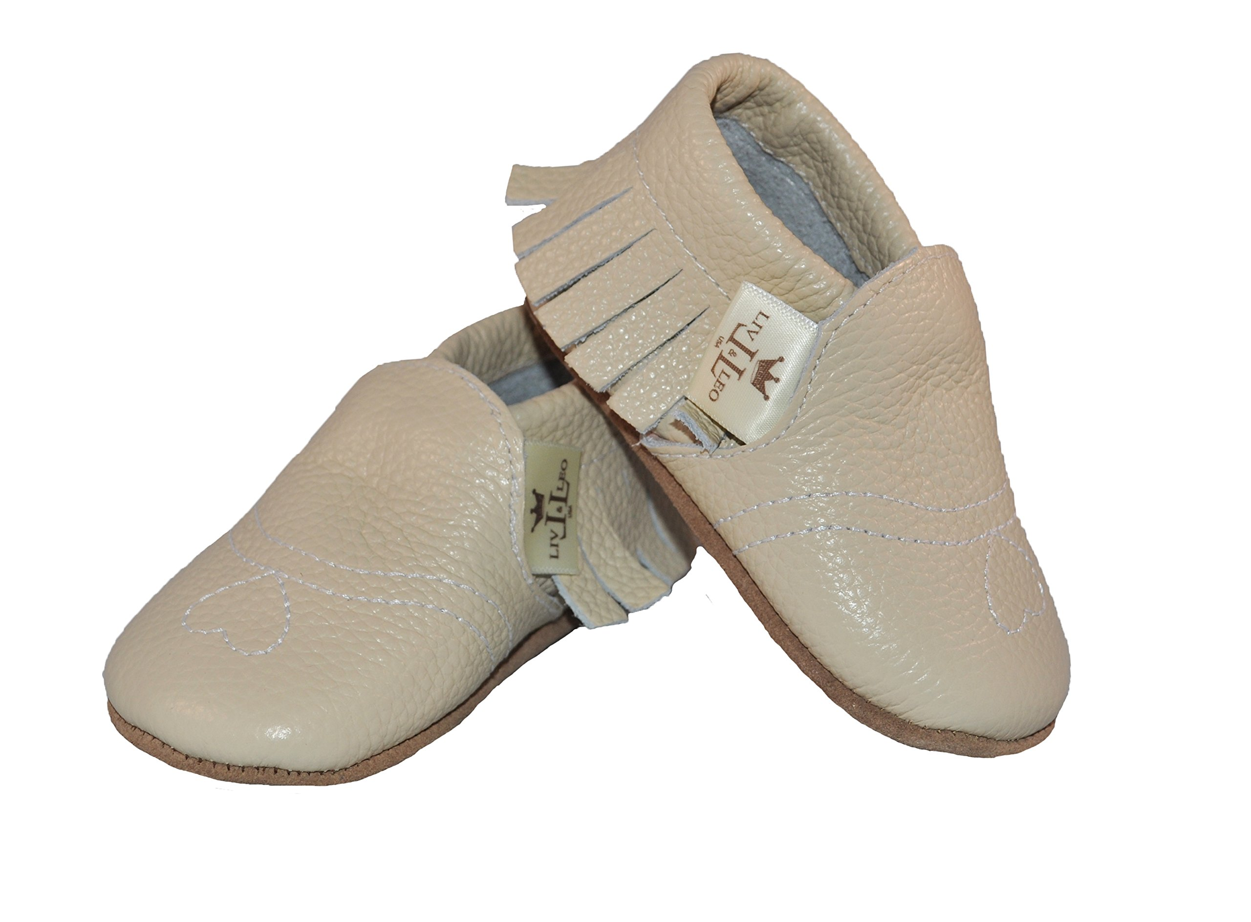 baby moccasins soft sole crib shoes slip on 100 genuine