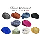 Variety Pack 6 (10 Colors) Mica Powder Pure, 2TONE Series Variety Pigment Packs (Epoxy,Paint,Color,Art) Black Diamond Pigments