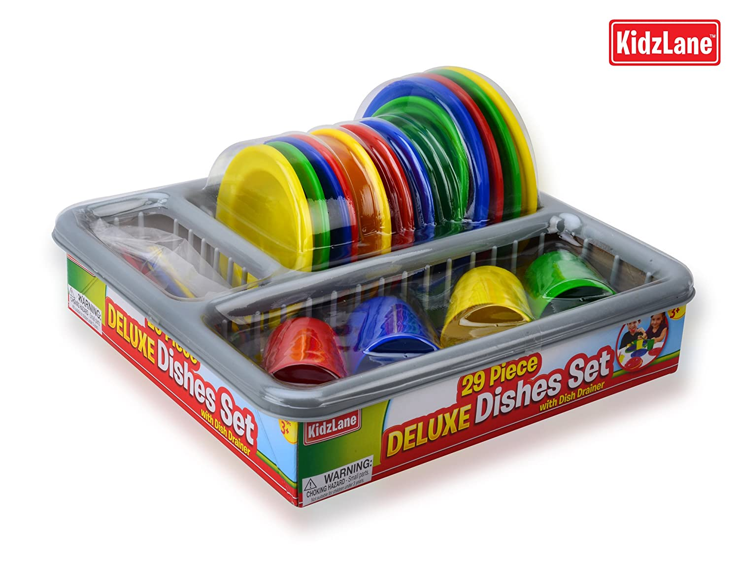 Kids play dishes set dish piece drainer bowls cups