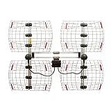 ANTENNAS DIRECT 8 Element Bowtie Indoor/Outdoor HDTV Antenna - 70 Mile Range - DB8e (Color: Aluminum)