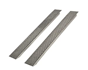 ALKO 130585 Auffahrrampen, 2,00 m gerade, 400 kg Tragkraft, Aluminium, Paar  BaumarktÜberprüfung und Beschreibung