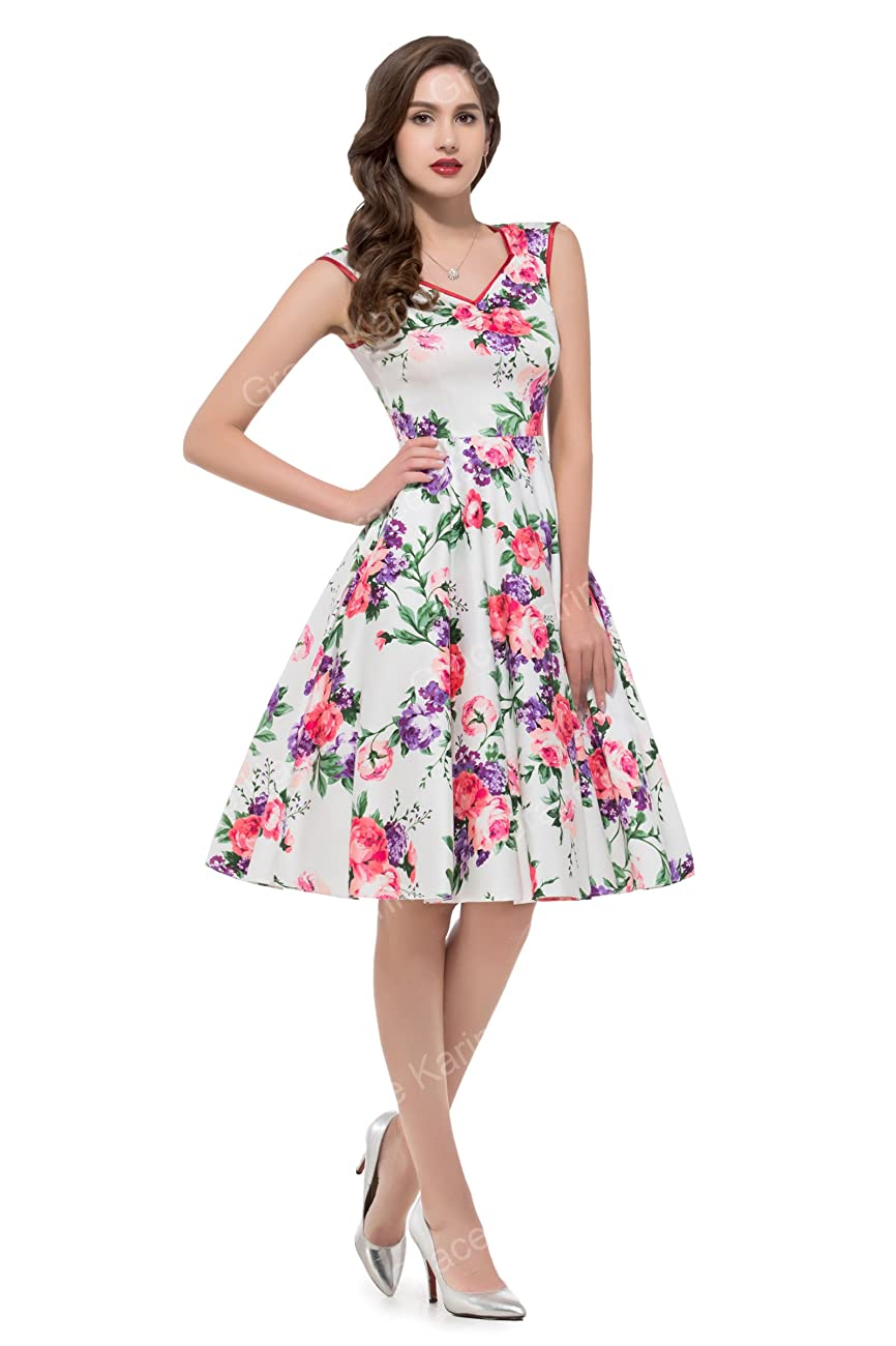 GRACE KARIN Women Floral Homecoming Prom Dress Short for Women CL7600 3