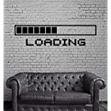 Picture It On Canvas Loading a Video Game Wall Poster Decal Cool Gamer Stuff Computer Wall Stickers Murals Home Decor Accents (Color: Black, Tamaño: as picture)