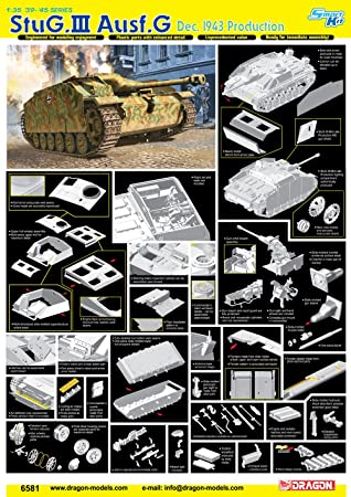 Dragon - D6581 - Maquette - Stug III AUSFG Production Décembre 1943 - Echelle 1:35
