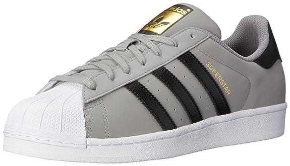 Adidas Superstar Grey And Black