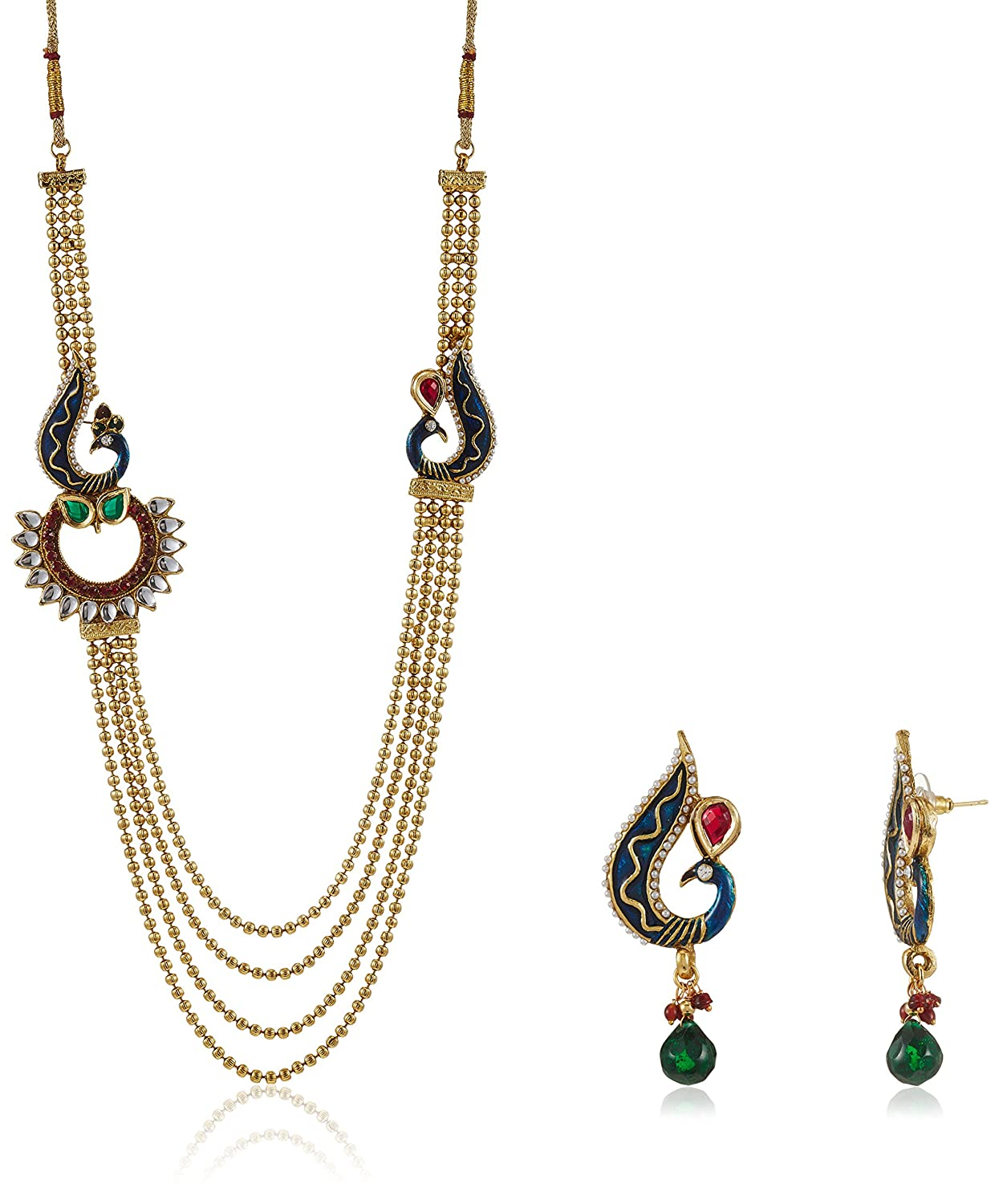 Ava Traditional Jewellery Set for Women (Golden) (S-VS-1386) By Amazon @ Rs.459