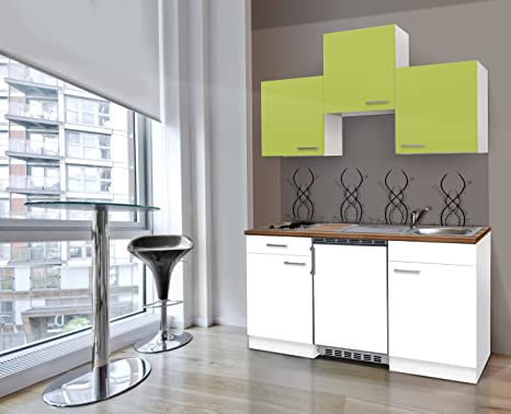respekta Kitchen Unit Single Mini White Front 150 CM Pastel & Ceramic White
