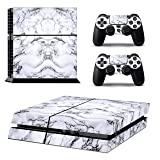 Ps4 Console Skins,Compatible with Playstation 4 Console Skin| ps4 Skins| ps4 Stickers|ps4 Decals|ps4 Skins Console and Controller |Ps4 Cover Skin Vinyl for ps4(ps4 Skin Marble) (Color: Marble)