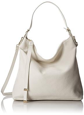 Details zu Guess Tasche Shoppingbag Silber grau Champagnerfarbend mit Nieten