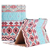 ProCase Samsung Galaxy Tab A 9.7 Case, Standing Cover Folio Case for 2015 Galaxy Tab A Tablet (9.7 Inch, SM-T550 P550), with Multiple Viewing angles, Document Card Pocket - Aztec1 (Color: z- Aztec1, Tamaño: Galaxy Tab A 9.7)