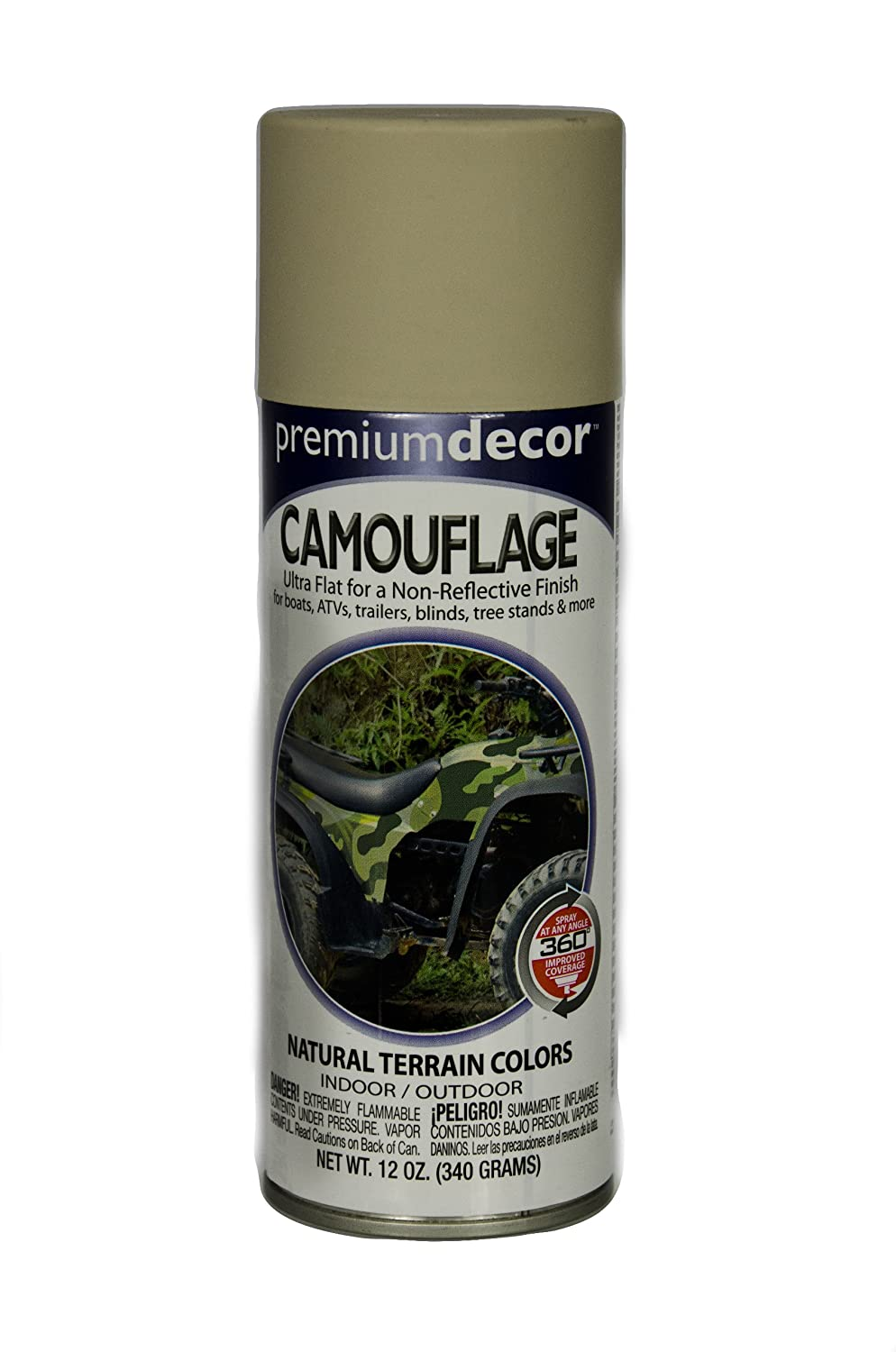 General Paint & Manufacturing PDS-180 Premium Decor Camouflage Enamel Spray Paint with 360-Degree Spray Tip, Light Khaki, 6-Pack devabys car paint spray gun tts