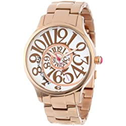 Betsey Johnson Women's Analog Optical Dial Watch