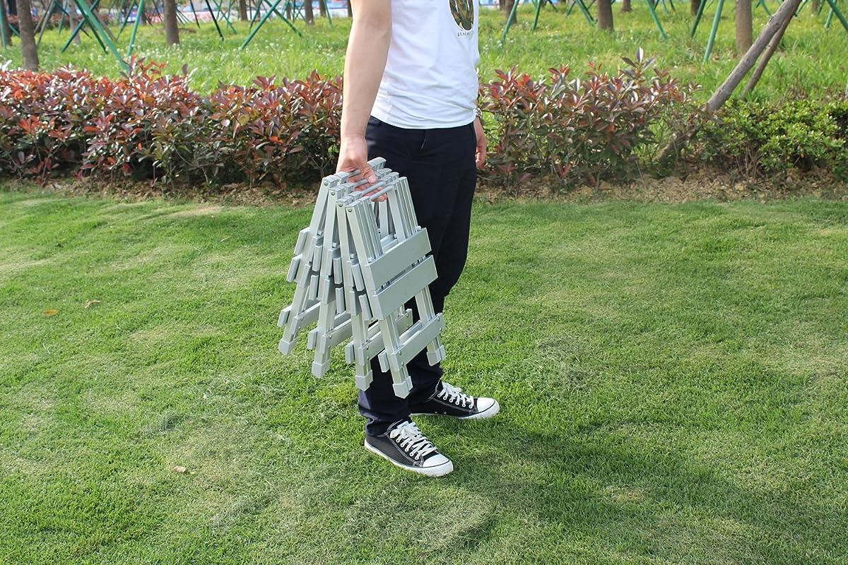 KLB Sport Aluminum Portable Folding Picnic Table w/ 4 Seats & Storage Net (silver)