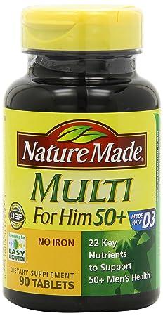 海淘莱萃美维生素:Nature Made 莱萃美 男士50岁以上复合维生素
