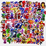 Laptop Stickers(100pcs),Superheros Computer Stickers for Water Bottles,Vinyl Stickers for Laptop Skateboard Luggage Decal Graffiti Patches Stickers in Bulk (Color: superhero100, Tamaño: superhero100)
