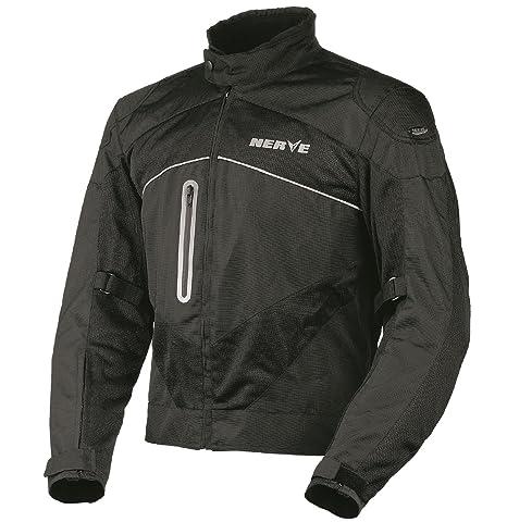 NERVE 1511151304_05 Run Boy Blouson d'Eté Textile Mesh Moto, Noir, Taille : XL