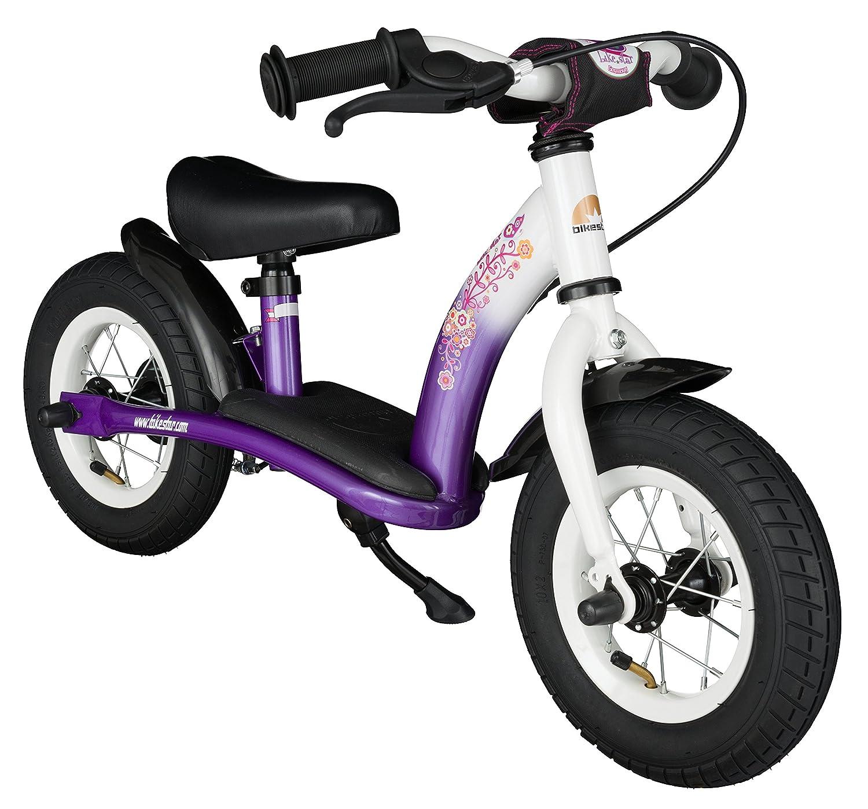 BIKESTAR® Premium Sicherheits-Kinderlaufrad für kleine Abenteurer ab 2 Jahren ★ 10er Classic Edition ★ Candy Lila & Diamant Weiß als Weihnachtsgeschenk