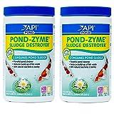API POND-ZYME SLUDGE DESTROYER Pond Water Cleaner With Barley (2 Pack) (Tamaño: 32 Oz)