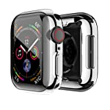 smiling Case for Apple Watch Series 4 with Buit in TPU Clear Screen Protector 44mm- All Around Protective Case High Definition Clear Ultra-Thin Cover for Apple Watch Series 4 44mm (Silver) (Color: silver)
