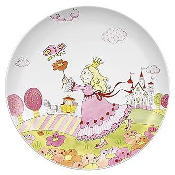 assiette pour enfant enfant auerhahn prinzessin anneli assiette porcelaine dure imprim e. Black Bedroom Furniture Sets. Home Design Ideas
