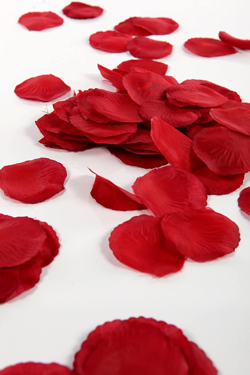 The gallery for red rose petals on bed for Individual rose petals