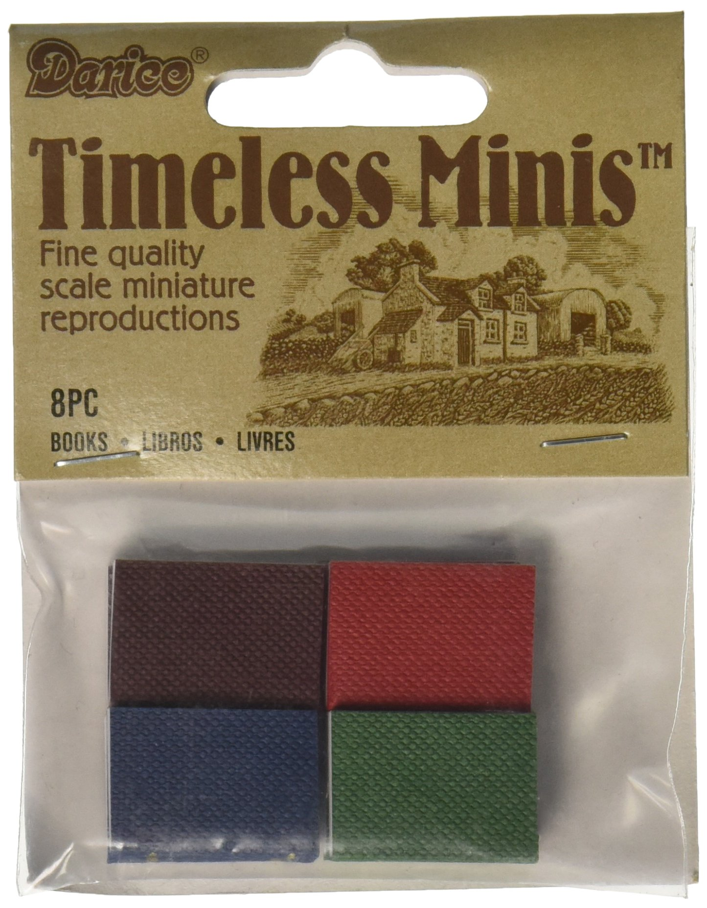 Darice Timeless Miniatures Books 8/Pkg