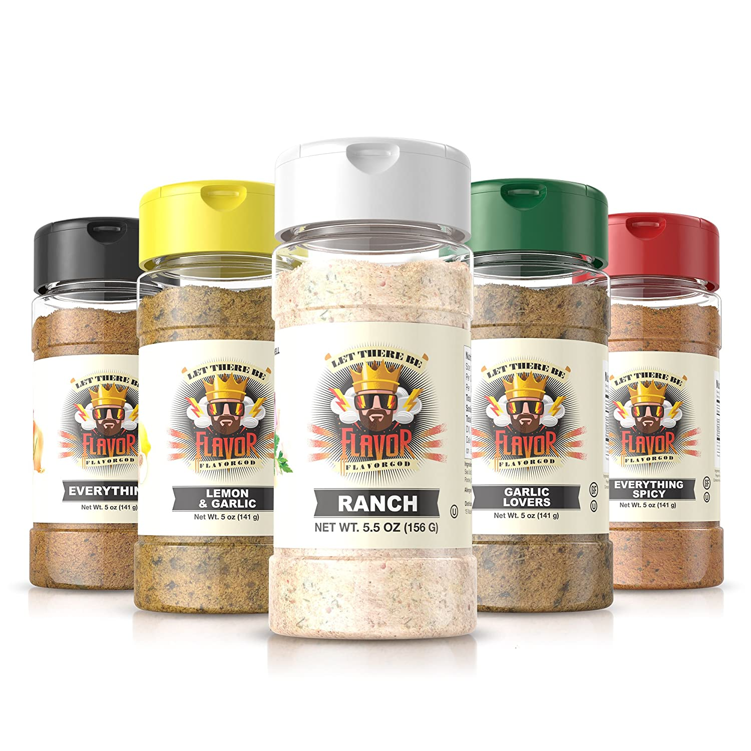 #1 Best-Selling 5oz. Flavor God Seasonings (5 Bottle Ranch Combo Pack)