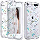 ULAK iPod Touch 7 Case, iPod 6 Case, iPod Touch 5 Clear Case, Slim Anti-Scratch Flexible Soft TPU Bumper Hybrid Shockproof Protective Case for Apple iPod Touch 5/6th/7th Generation, 3D Shapes (Color: 3D Shapes)