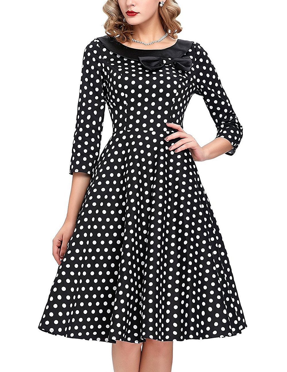 GlorySunshine Women's Vintage Swing Polka Dot Dress 2