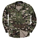 Urban Boundaries Mens Long Sleeve Camouflage Military Shirt (Army Green Camo, Modern Fit: Medium) (Color: Army Green Camo, Tamaño: Modern Fit: Medium)