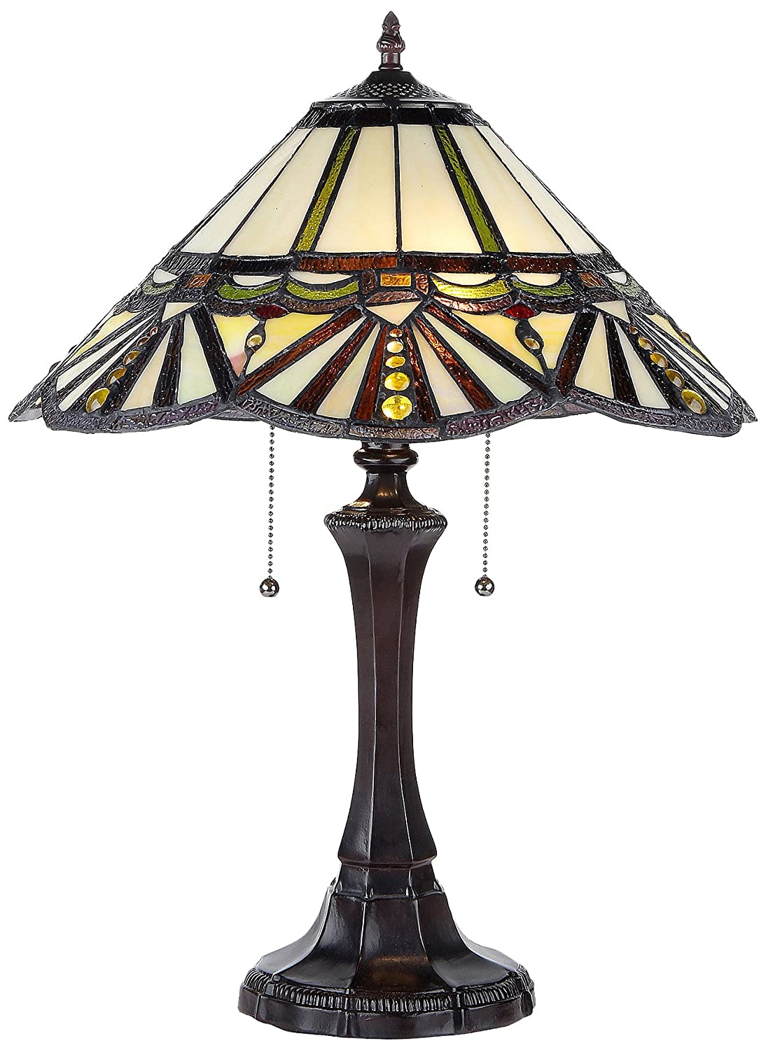 Chloe Lighting CH33251GM16-TL2 York Tiffany-Style Vantage 2 Light Table Lamp 16 Shade 8 lights vintage edison lamp shade multiple adjustable diy ceiling spider lamp pendent lighting chandelier modern chic easy fit
