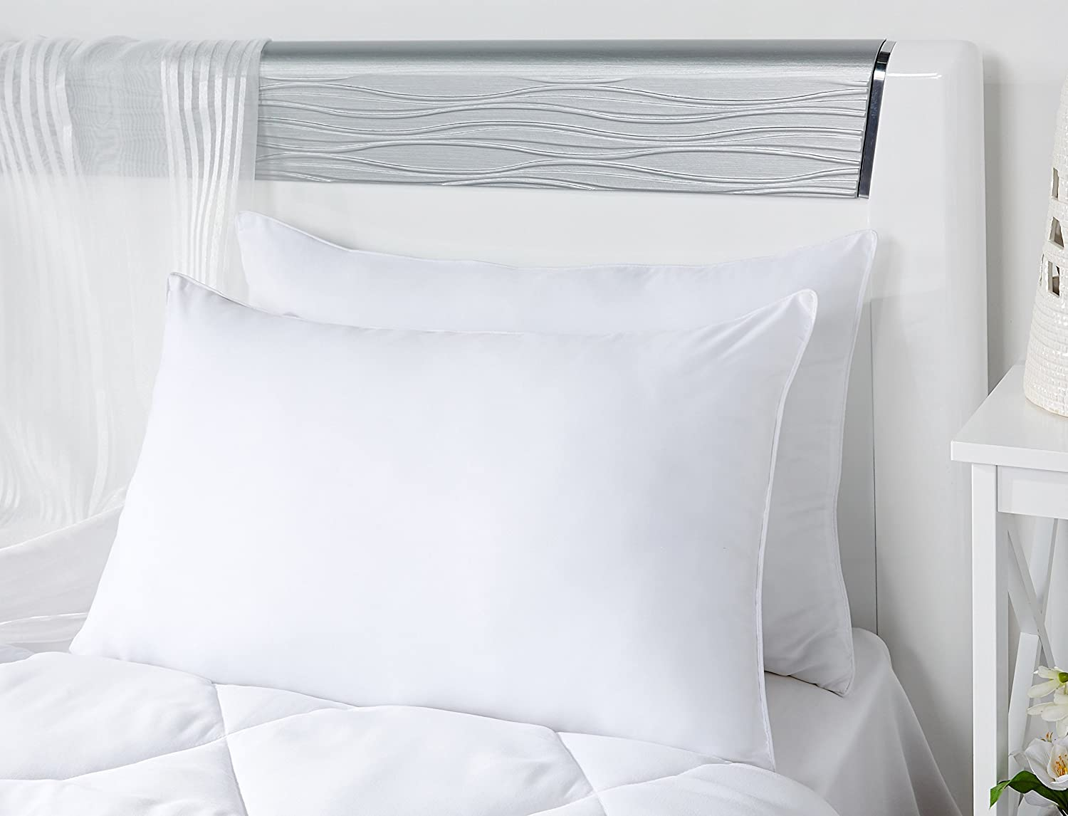 White bed pillows - Buy Solimo 2 Piece Soft Bed Pillow Set 17 X 27 Inches White Online At Low Prices In India Amazon In