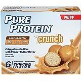 Pure Protein Crunch Peanut Butter 1.2 Ounce Packets (Pack of 6), Crispy Protein Bites with Peanut Butter Flavor, Gluten Free, Non-GMO (Tamaño: 6 Pouches)