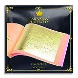 Genuine Gold Leaf Sheets 23.5k - by Barnabas Blattgold - 3.1 inches - 25 Sheets Booklet - Loose Leaf (Color: Loose Leaf, Tamaño: [3.1