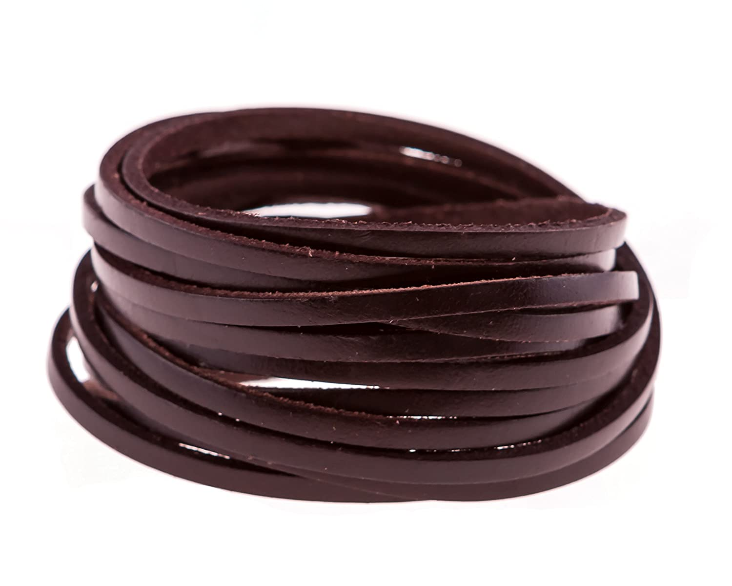 True Heart Style Genuine Leather Wrap Multi-strand 6 Strand Bangle Cuff Bracelet