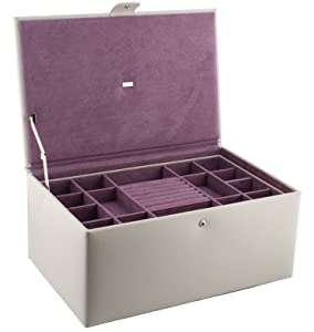 Dulwich Designs Large Stone Leather Jewellery Box 70357       review and more information