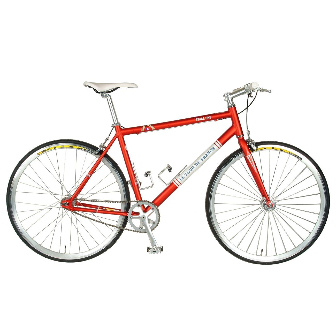 Tour de FranceStage One Vintage Fixie Bike, 700c Wheels,Men's Bike, Red, 45 cm Frame, 51 cm Frame, 56 cm Frame 0