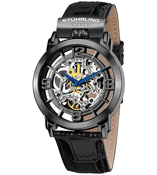 $79.99 Stuhrling automatic skeleton watches