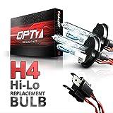 OPT7 2pc Blitz H4 Hi-Lo Replacement HID Bulbs [5000K Bright White] Xenon Light (Color: 5000K Bright White, Tamaño: H4 Hi-Lo)