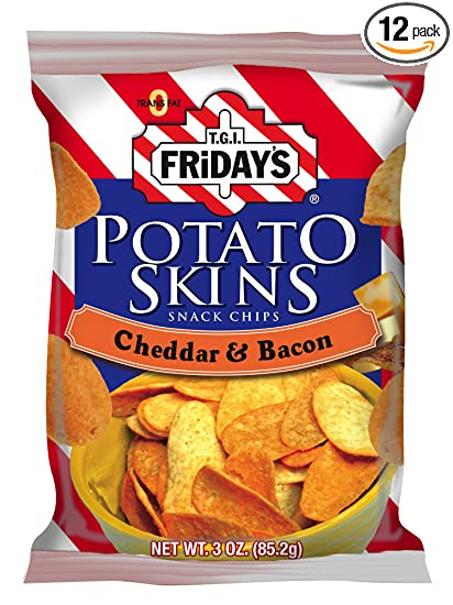 Potato Skins Chips Chips Cheddar Bacon Potato